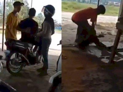 Kasihan! Remaja Ini Dipukuli dan Ditendang oleh 7 Remaja Cuma karena Bonceng Gadis