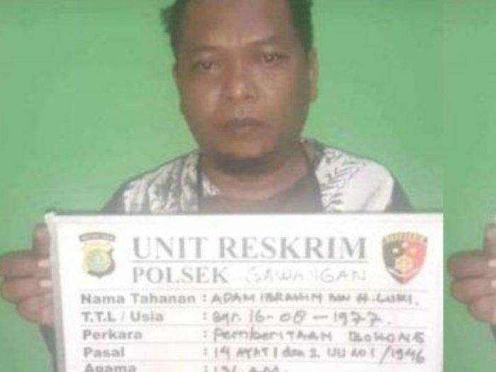 Sebar Hoaks Babi Ngepet di Depok, Ustaz Adam Ibrahim Diciduk Polisi