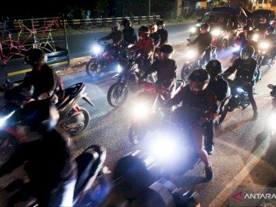 Pemudik Sepeda Motor Mulai Padati Jalur Pantai Utara Jawa