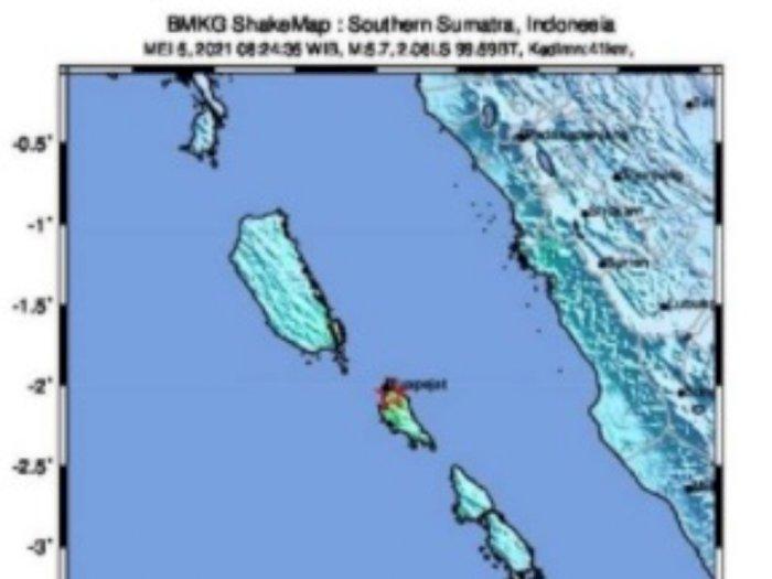 Usai Maluku Utara, Kini Gempa Guncang Sumbar dengan Magnitudo 5,8