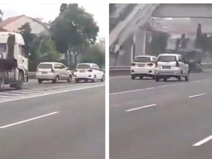 2 Mobil Kejar-kejaran di Tol Buah Batu, Aksinya Membahayakan dan Tidak untuk Ditiru