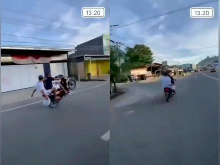Viral Remaja Sok Jago Ugal-ugalan di Jalan Raya, Ending Bikin Geleng-geleng Kepala