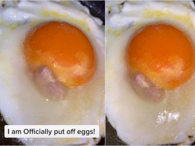 Wanita Ini Ngeri Setelah Menemukan 'Bayi Ayam' Mati di Dalam Telur Gorengnya