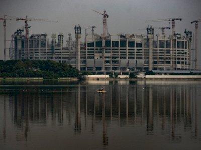 FOTO: Progres Pembangunan Jakarta International Stadium