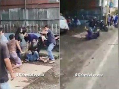 Pria Bawa Dua Parang Ini Dikeroyok Puluhan Warga di Banjarmasin, Serang Polisi saat Kabur
