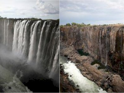 Air Terjun Terbesar di Afrika Berhenti Mengalir, Bahaya Nyata Perubahan Iklim