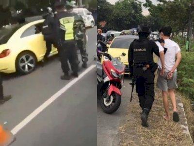 Arogan, Pengemudi Mobil Mewah Terobos Pos Penjagaan Mudik dan Tabrak Petugas Polisi