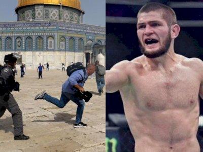 Zionis Israel Serang Warga Palestina, Khabib Nurmagomedov Tak Tinggal Diam, Begini Katanya