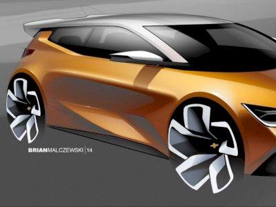 General Motors Unggah Desain Rendering Mobil Hatchback Kecil Chevrolet!