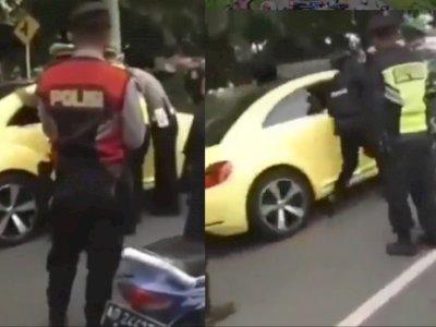Viral Mobil Terobos Penyekatan Arus Mudik hingga Tabrak Polisi