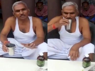Dianggap Bisa Hindari Covid-19, Anggota Parlemen di India Ini Minum Urin Sapi