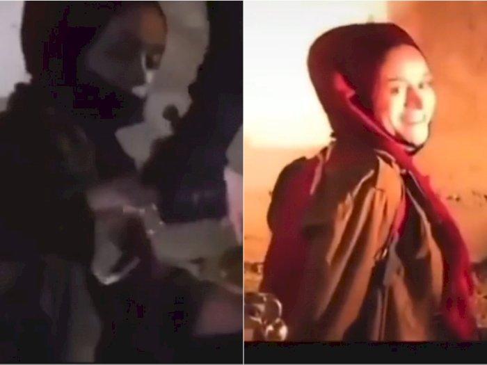 Viral Wanita Palestina Diborgol Paksa Namun Masih Bisa Tersenyum, Netizen: MasyaAllah