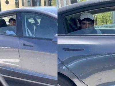 Polisi Mengintai Pria Ini yang Mengendarai Mobil Tesla Tanpa Duduk di Kursi Sopir