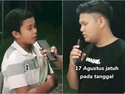 Viral Bocah Berpikir Lama saat Ditanya Kapan Perayaan 17 Agustus, Jawabannya: 1 Januari
