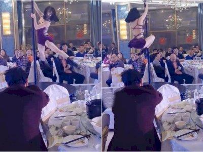 Penari Tiang Ini Dikecam Netizen Setelah Tampil di Pesta Pernikahan