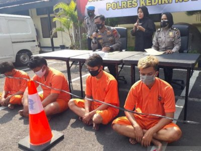 Empat Debt Collector yang Tabrak dan Keroyok Nasabah di Kediri Ditangkap