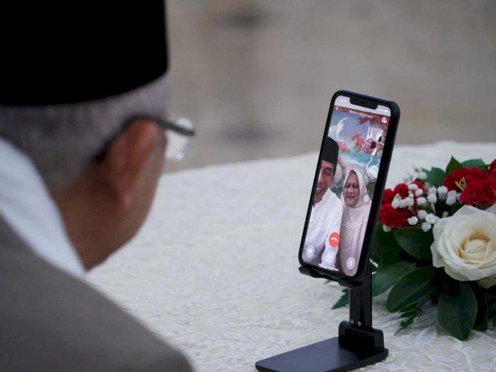 Video Call dengan Ma'ruf Amin, Jokowi Curhat Lebaran Tak Bersama Anak dan Cucu