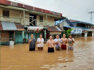 Banjir di Badau, Puluhan Rumah Warga di Perbatasan RI-Malaysia Terdampak