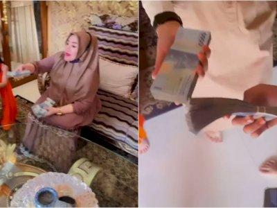 Viral Seorang Nenek Bagi-bagi Uang THR Segepok ke Cucunya, Bikin Netizen Iri