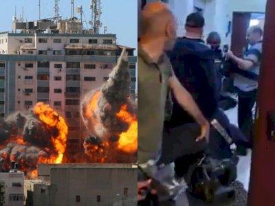 Gedung Awak Media di Gaza Dibom, Aksi Israel Dianggap Kejahatan Perang Terhadap Jurnalis