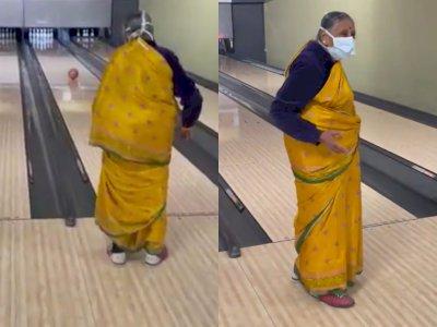 Viral Video Nenek-nenek Main Bowling dan Memukul Strike, Bikin Netizen Terhibur