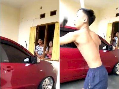 Viral, Pria Ini Ngamuk Ditagih Utang, Nantang Lapor Polisi, Penagih Diusir Pakai Sapu