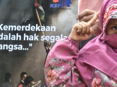 FOTO: Aksi Solidaritas Dukung Palestina di Jakarta