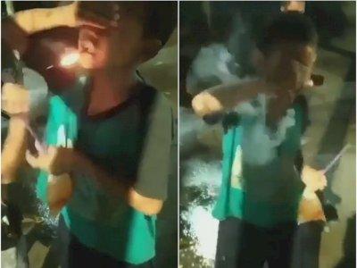 Mengerikan, Bocah Nyalakan Petasan di Mulutnya, Netizen: 'Ngeprank Malaikat Maut'