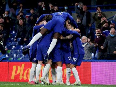 FOTO: Liga Inggris, Chelsea Tundukkan Leicester City 2-1