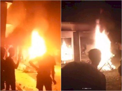 Marak Begal Tak Pernah Diungkap, Polsek Candipuro Lampung Selatan Dibakar Massa