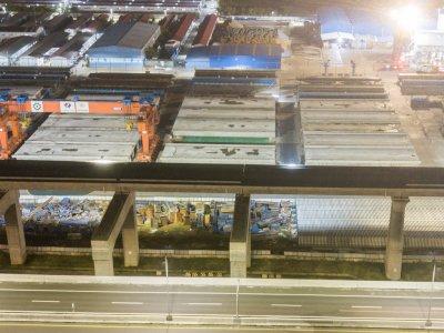 FOTO: Progres Pembangunan Jalur Kereta Cepat Jakarta-Bandung