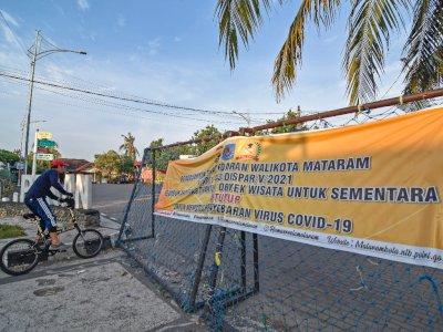 FOTO: Penutupan Tempat Wisata di Mataram