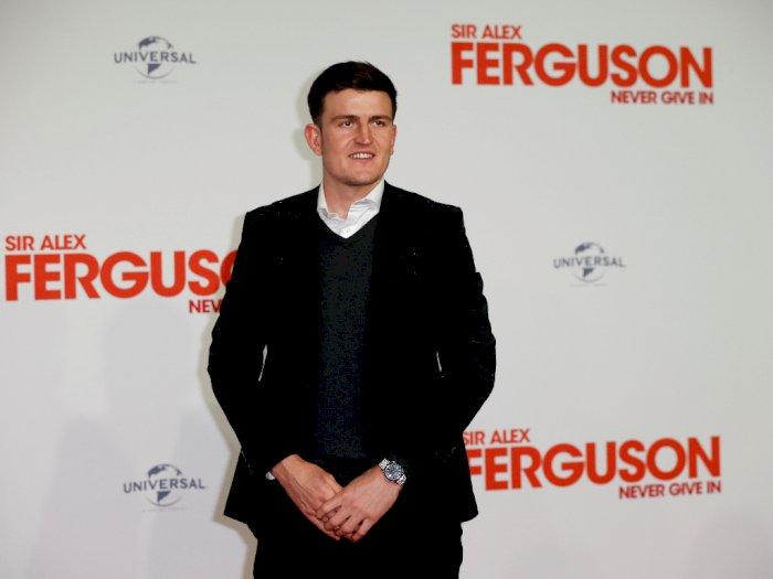 Hadir di Premier Film Dokumenter Sir Alex Ferguson, Kondisi Harry Maguire Mulai Baik