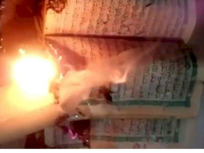 Viral Cewek Bakar Al-Quran Hingga Sebut Mampus ke Warga Gaza, Netizen Berang
