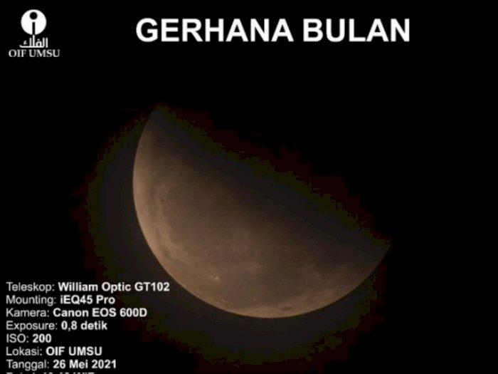 Terkendala Cuaca Berawan, Pengamatan Super Blood Moon di UMSU Jadi Kurang Maksimal