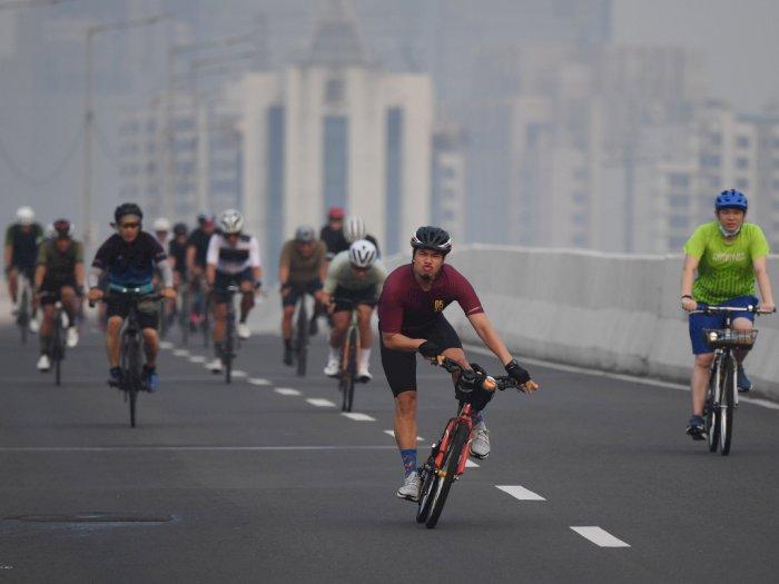Tanggapi Foto Viral Pesepeda di Jakarta, Wagub Riza Minta Jalan Disesuaikan Peruntukannya