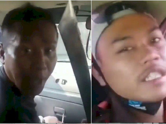 Viral Anggota Ormas Acungkan Senjata Tajam Sambil Ngancam dan Tolak Mediasi