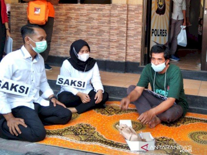 Polres Bantul Gelar Rekonstruksi Kasus Sate Beracun Sianida, 34 Adegan Diperagakan