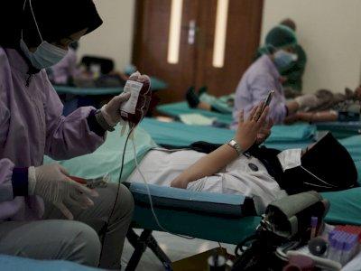 FOTO: Donor Darah Peringatan Hari Anti Narkotika