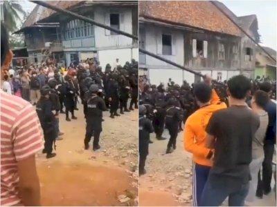 Puluhan Polisi & Brimob Gerebek Kampung Narkoba di Sumsel, Pengedar dan Preman Ditangkap
