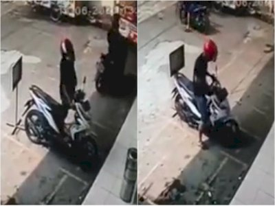 Apes! Niat Hendak Mencuri, Dua Pria Ini Malah Gagal Bawa Kabur Motor, Netizen: Yahh Gajadi