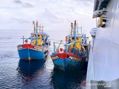 Lagi, Kapal Berbendera Malaysia Masuk ke Perairan Riau dan Terciduk Curi Ikan