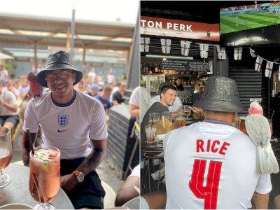 Nobar Laga Inggris vs Kroasia, Lingard Pakai Jersey Declan Rice