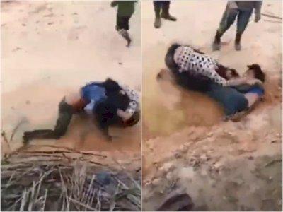 Astaga! Emak-emak di Nias Berkelahi di Kebun Sawit Hingga Terguling, Pakaian Hampir Lepas
