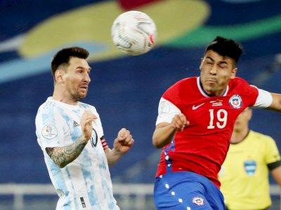 FOTO: Copa America 2021, Argentina vs Chile 1-1