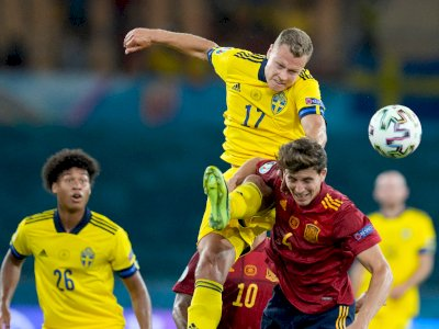 FOTO: Euro 2020, Spanyol vs Swedia Berakhir Skor Kacamata 0-0