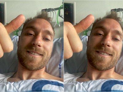 Unggah Foto di RS, Christian Eriksen Kembali Aktif di Medsos: Halo, Aku Baik-baik Saja