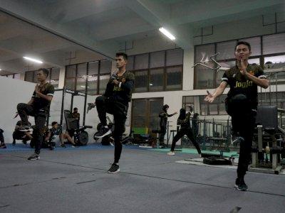 FOTO: Latihan Atlet Pencak Silat DIY Jelang PON XX