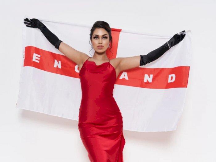Unggah Foto Memukau, Miss England Beri Dukungan untuk The Three Lions di EURO 2020