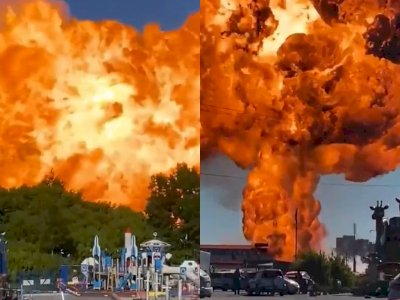 Detik-detik Pom Bensin Meledak dan Membuat Banyak Orang Terluka, Videonya Bikin Ngeri!